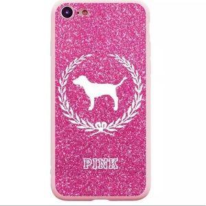 iPhone X PINK Glitter Bumper Case NWT